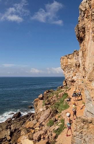 coastline rockface for climbing