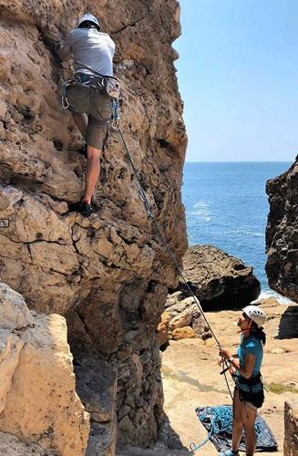 rock climbing portugal yoga