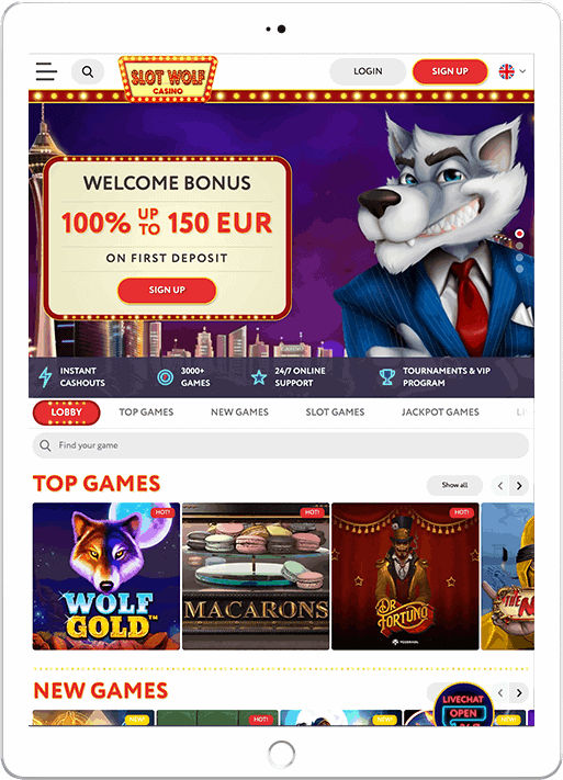 Get 100% bonus and 100 free spins now!