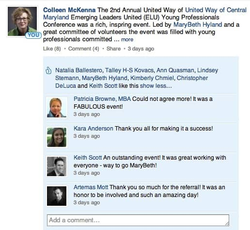 LinkedIn Mentions Comments