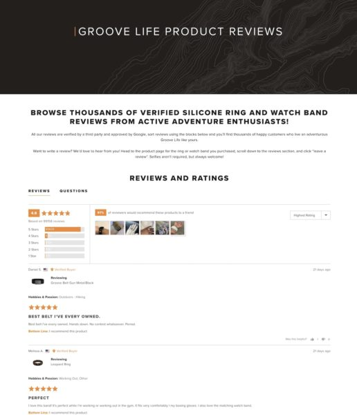 GrooveLife - Customer Reviews