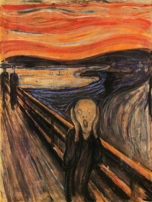 "Edvard Munch, The Scream. Painting reproduced in ""Expressionism"" by Ashley Bassie"