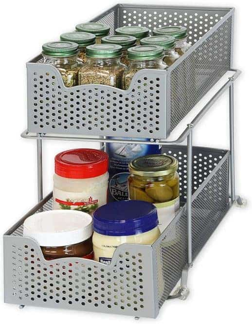 using add-on drawers to organize your kitchen