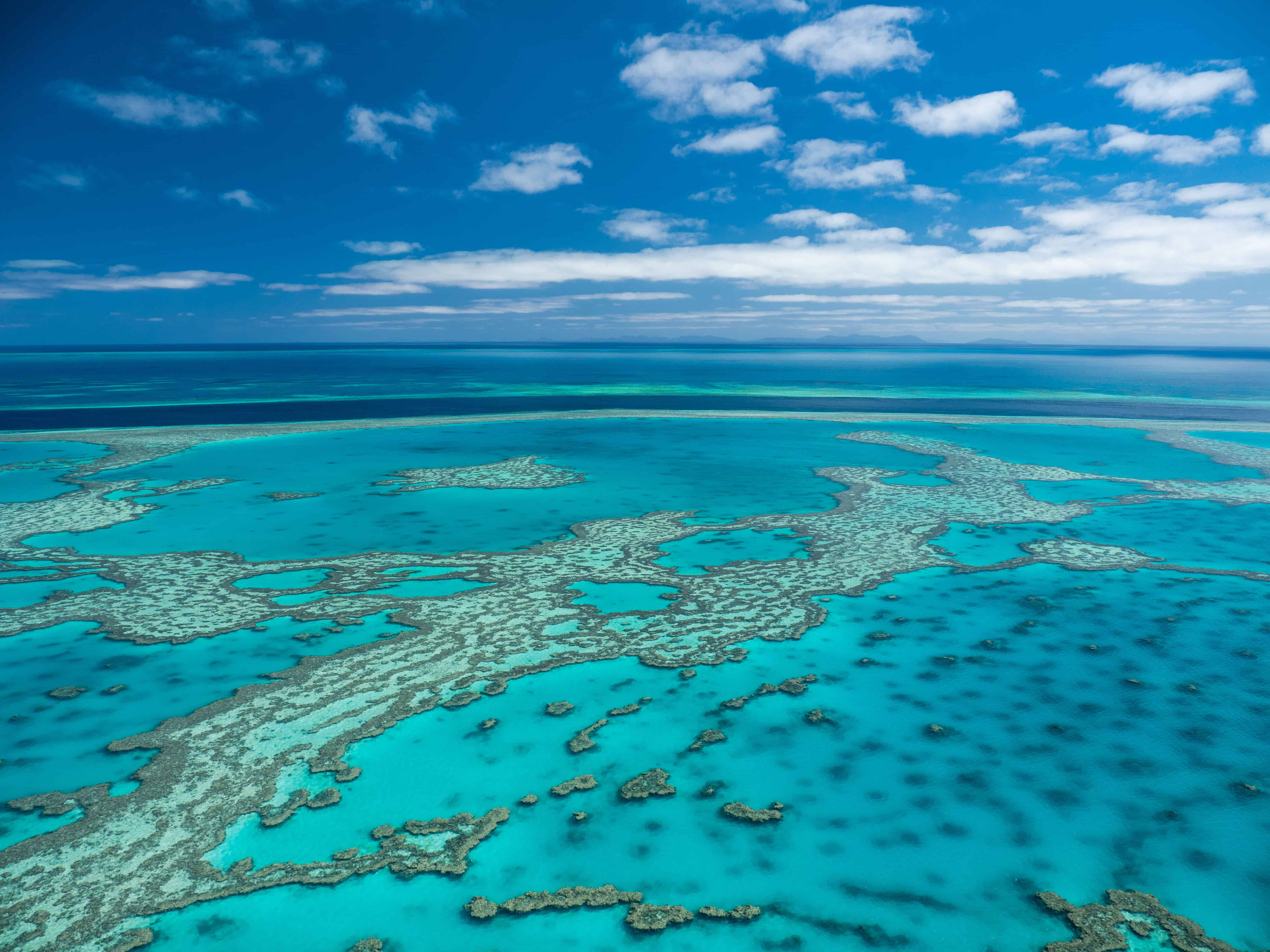 aerial image of the Great Barrier Reef