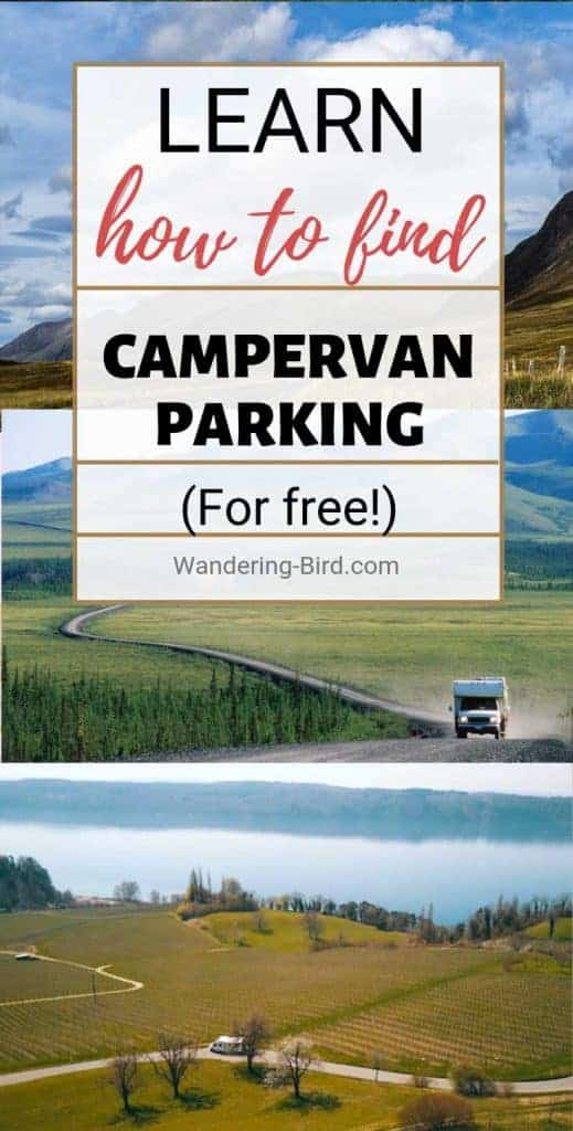 Awesome campervan living tips- including how to find the best campervan parking spots for free! Everything you need to know for campervan life on a budget. #campervan #campervanlife #vanlife
