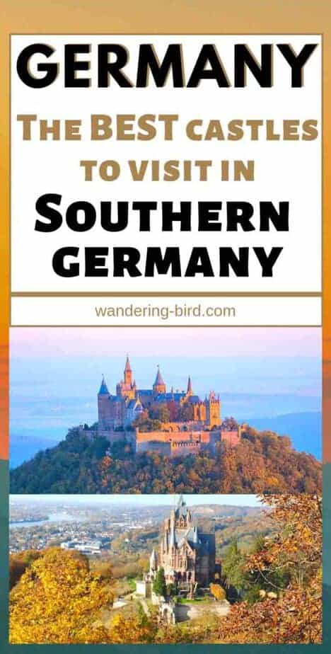Visiting Germany? Want to see the best castles? This great guide has a MAP of the best castles in Southern Germany, so you can plan your route, itinerary and visits. #castles #germany #fairytale #traveltips #map #germanytravel #itinerary
