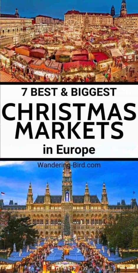 Looking for the best and BIGGEST Christmas markets in the Europe? Wondering what the BEST European Christmas market it? Add these to your Europe Bucket List. | Christmas Market in Europe| Best Christmas market Europe | Vienna Austria Christmas Market | Bucket List Christmas Markets in Europe | Christmas Market Ideas | Christmas Markets Germany