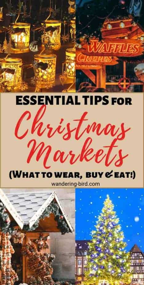Christmas Market ESSENTIAL tips- what to wear, buy & eat! Visiting a Christmas Market this year? Whether it's a Christmas Market in Europe, the BEST Bucket list Christmas market or your local, here are some tips and tricks to get the most out of your visit. Christmas Markets in Europe | Best Christmas Market tips | Bucket list Christmas Market | Christmas Tips