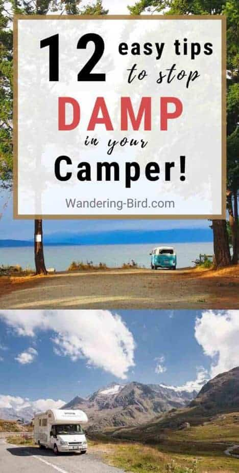 12 easy tips to stop damp and condensation in your camper or motorhome.