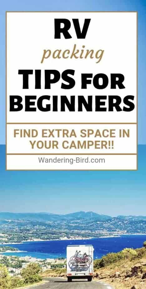 Looking for the BEST RV packing tips for RV living? These fantastic hacks show you HOW to pack an RV from nothing, as well as thoughts on WHERE to store things. There are FREE checklists and printable RV lists for your adventure planning. It's the only RV planning tips post you need!