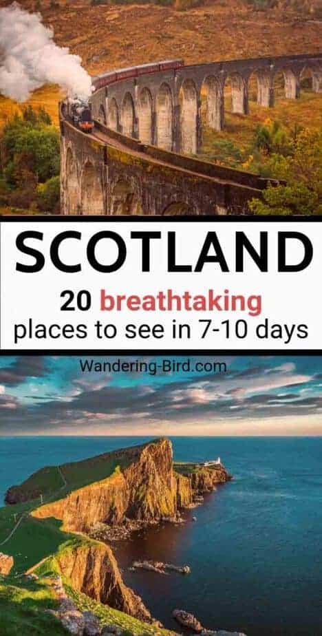 Scotland Travel Itinerary- Tips and things to do! Planning a Scotland Road Trip? This map and guide includes beautiful places and ideas in the Scottish Highlands, Isle of Skye, Orkney, Harry Potter and more! Plan your vacations in Scotland, whether you have 7 or 10 days, 2 weeks or longer! The best Scotland travel itinerary and road trip guide around!