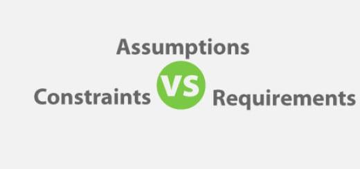 Assumptions vs Constraints vs Requirements for PMP Exam
