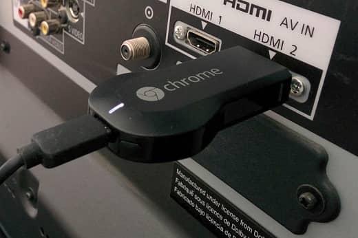 Conexión del Chromecast al TV