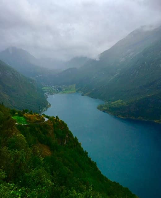 Geiranger view from Eagle Road.