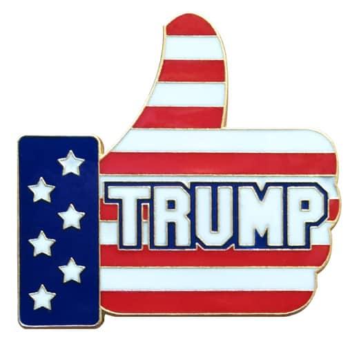 Trump Thumbs Up Lapel Pin