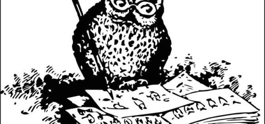 The wise old owl points the way to the books we sell.