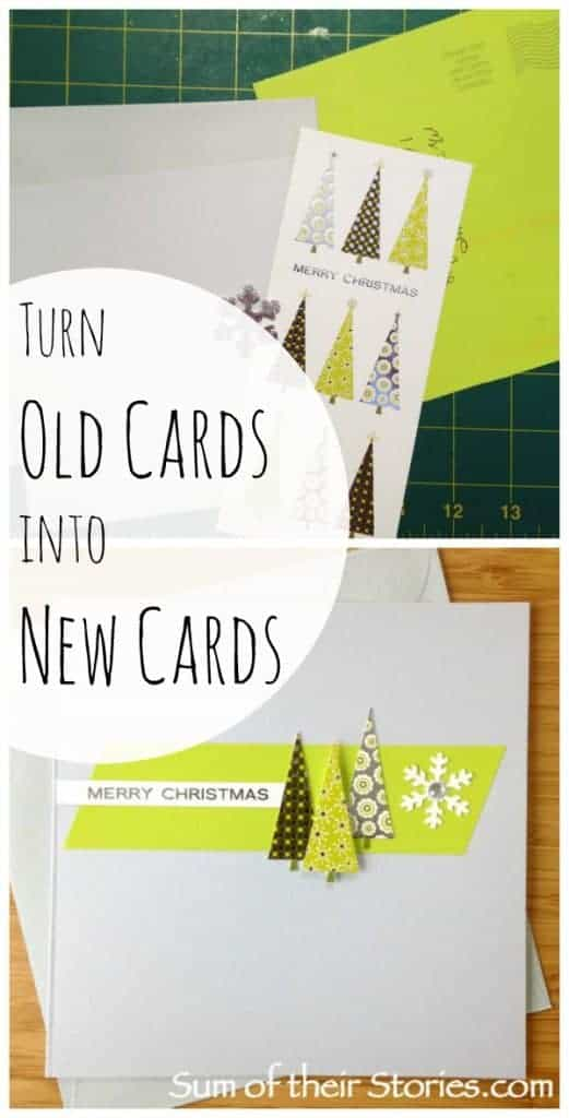 turn old cards into new cards
