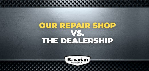 our shop versus the dealership