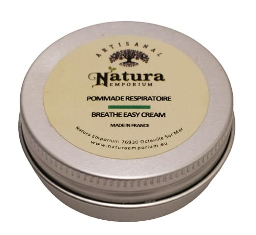 Image shows the tin of the decongestant cream.