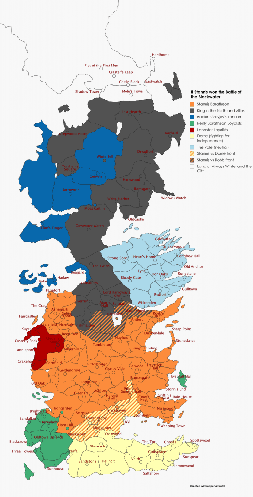 alternate war of the five kings map of Westeros