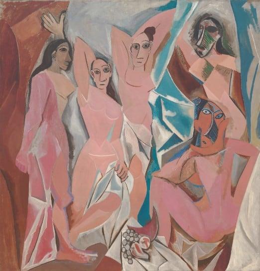 Picasso, Les Demoiselles d'Avignon, 1907. Cubist Art