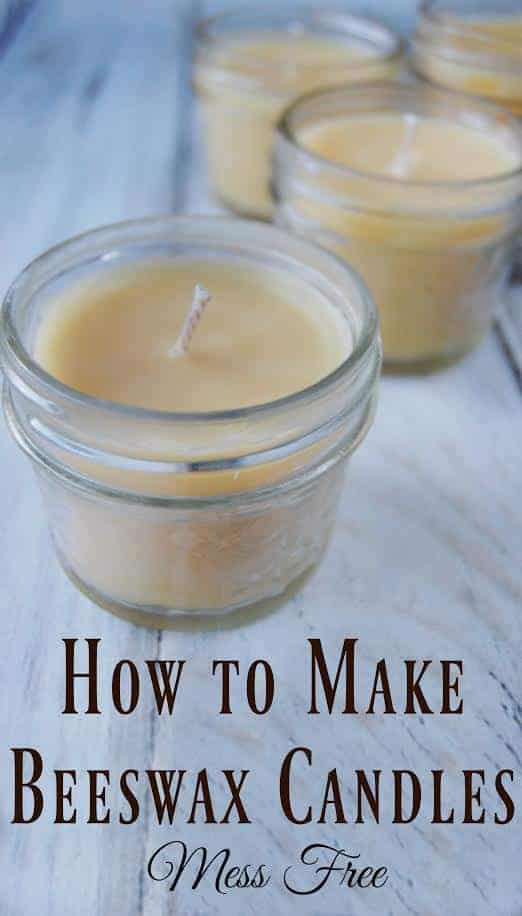 How to Make Beeswax Candles - Mess Free! Beeswax candles are toxin free and actually help clean the air! Making your own is easy to do and makes great diy gifts! #beeswax #homemadecandles #diy #candles #messfree #toxinfree