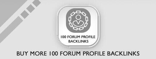 100 Forum Profile Backlinks Dubai