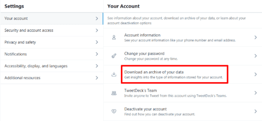 download your twitter data
