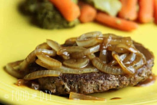 hamburger steaks and onions