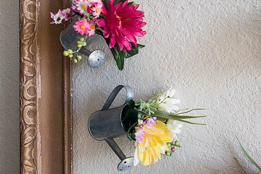 Mini Watering Can Flower DIY Decor Idea