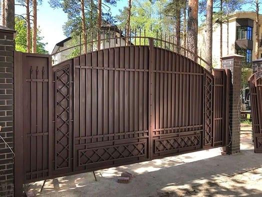 распашные ворота 2