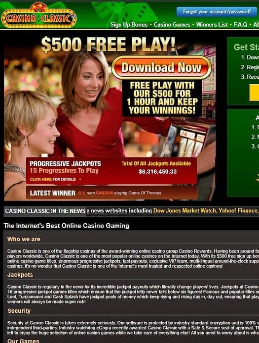 Casino Cassic Review