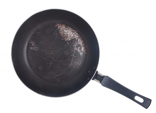 old frypan, what to do with old frying pans, can you throw away old pots and pans