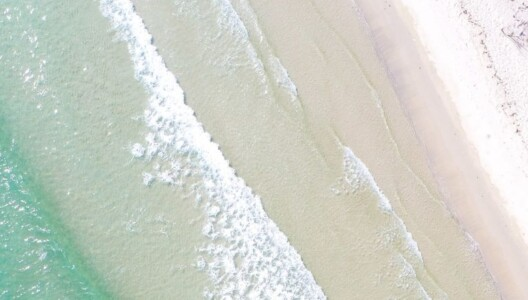 Aerial image of Whitehaven Beach on Whitsunday Island