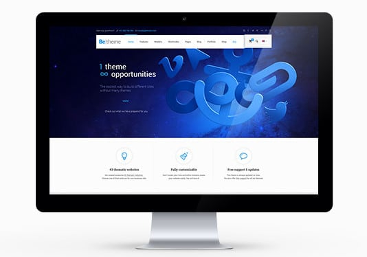 WordPress betheme review main layout