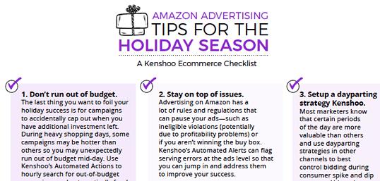 amazon advertising holiday season tips checklist
