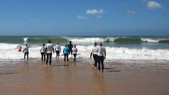 algarve beginner surf lesson