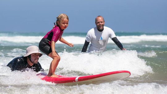 kids surfing lesson lisbon algarve