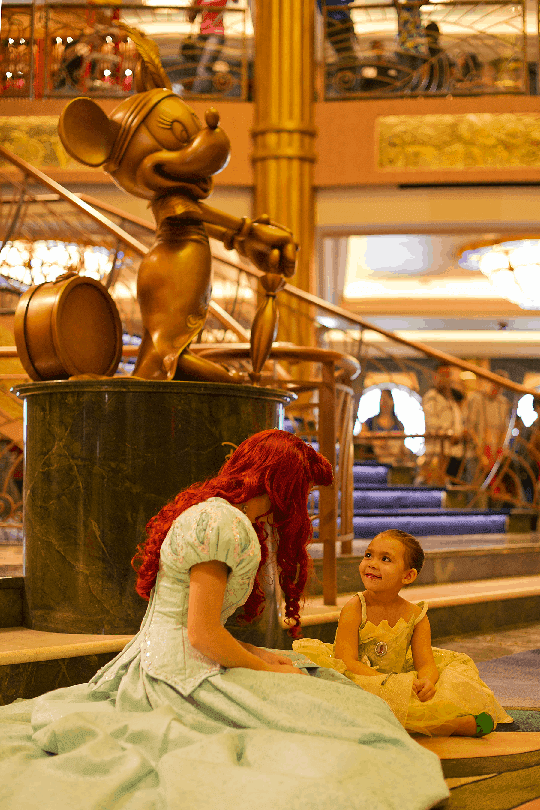 Meeting princesses is a highlight of a disney cruise.