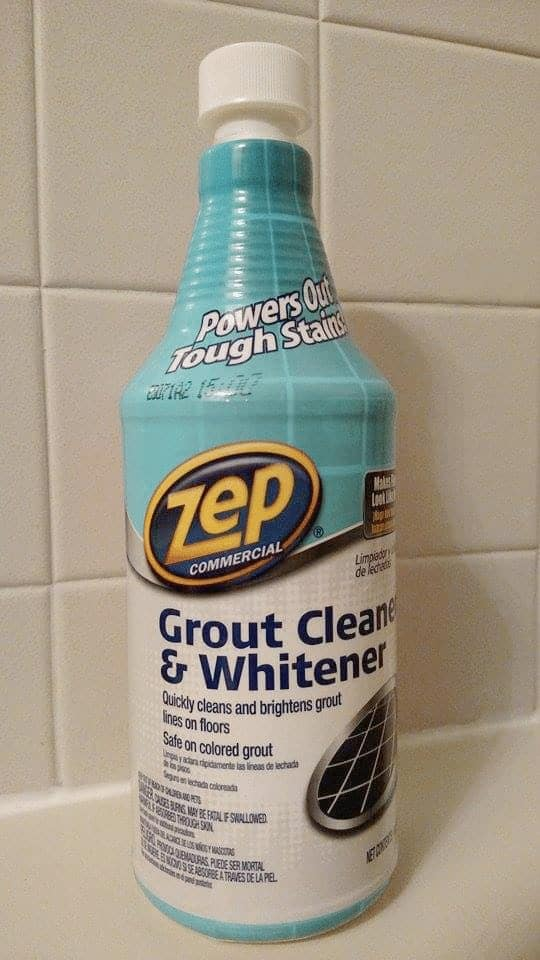 Bottle of Zep Commercial Grout Cleaner and Whitener - the easiest way to clean grout