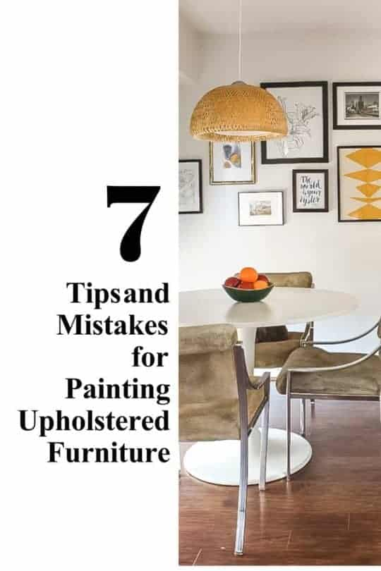 TIPS AND MISTAKES FOR PAINTING UPHOLSTERED FURNITURE