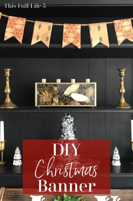 DIY Christmas Banner