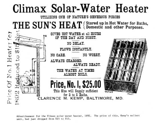 Climax Solar Water Heater - One of the first commercial solar water heaters in history