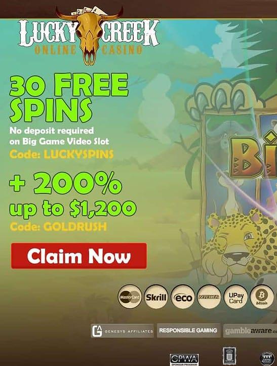 Lucky Creek Online Casino - USA welcome!
