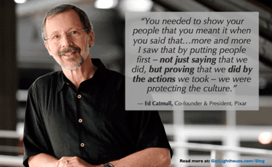 Having regular check-ins is a way of demonstrating you care which Ed Catmull knows matters