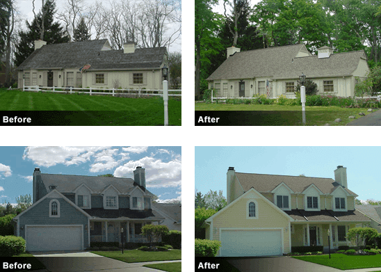 Bloomfield Construction Roofing Before and After
