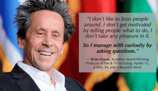 management debt - get out of management debt by asking questions like brian grazer