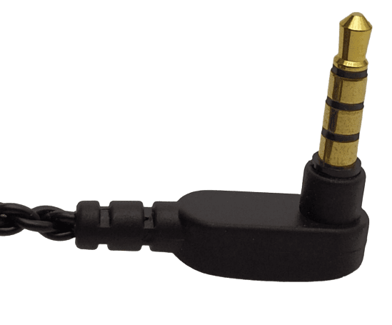 Image shows the jack plug in an upward position.