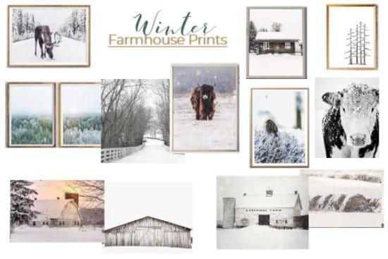 Winter Farmhouse Prints
