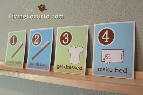 Free Printable Morning Flash Cards for Kids by LivingLocurto.com